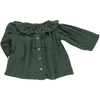 Poudre Organic - Green Blouse with collar - BubbleChops - 2