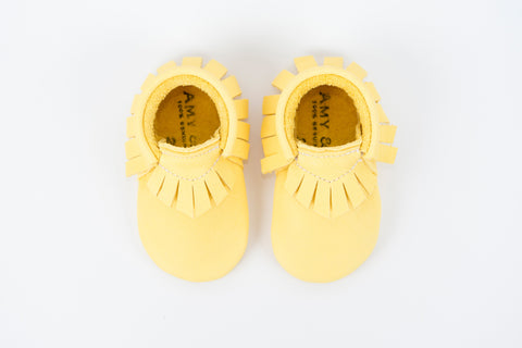 Amy & Ivor Yellow Traditional Moccasins - BubbleChops - 1