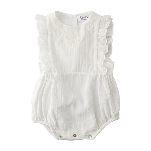 Tocoto Vintage - Baby Embroidered Romper