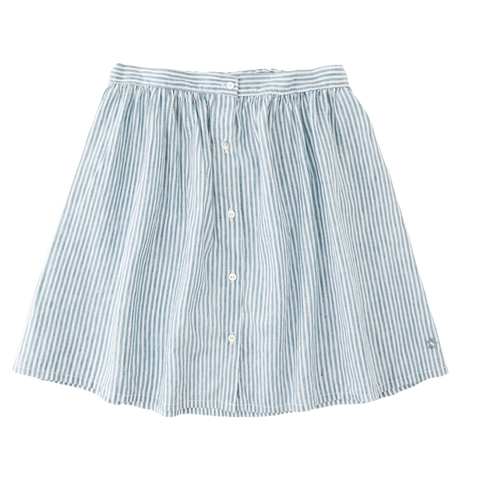 Tocoto Vintage - Denim Striped Skirt