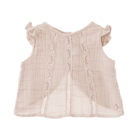 Tocoto Vintage - Sleeveless Lace Blouse