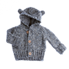 Tocoto Vintage - Grey Baby Bear Knitted Jacket - BubbleChops - 1
