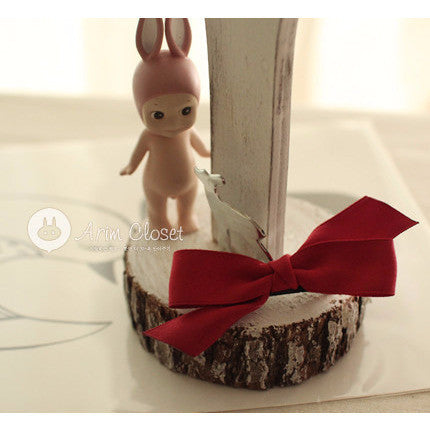 Arim Closet - Red Ribbon Hairclip