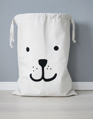 Tellkiddo - Reusable Bear Storage Fabric Bag (Large) - BubbleChops - 1