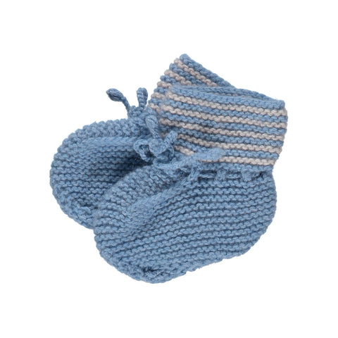 Olivier Baby & Kids - Blue Hand Knitted Cashmere Booties - 1 Left! - BubbleChops - 1
