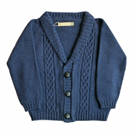 Plumeti Rain - Braid Navy Cardigan - BubbleChops
