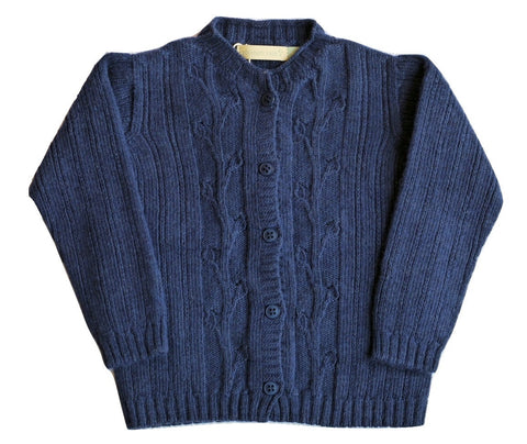 Plumeti Rain - Navy Leaves Cardigan - BubbleChops