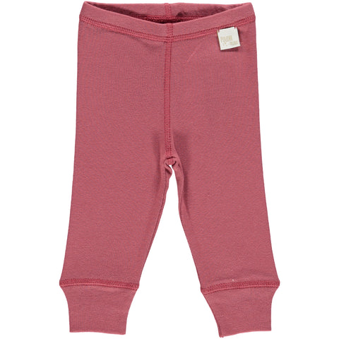 Poudre Organic - Cotton Leggings in Maroon - BubbleChops