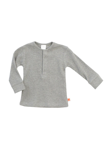 Tinycottons - Grey Waffle T-shirt - BubbleChops