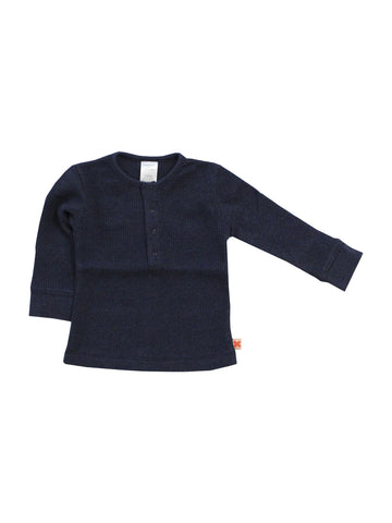 Tinycottons - Navy Waffle T-shirt - BubbleChops