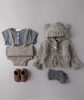 Tocoto Vintage - Grey Baby Bear Knitted Jacket - BubbleChops - 2