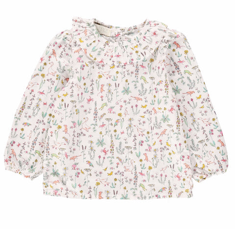Olivier Baby & Kids - Liberty Print Theo Peach Shirt - BubbleChops