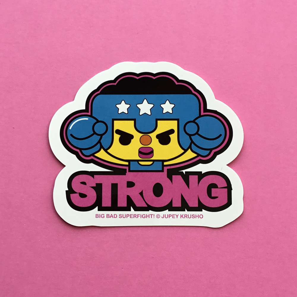 Big Bad Superfight! STRONG Sticker