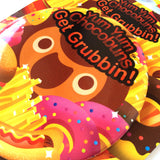 "Get Grubbin! 4"" Button"