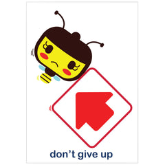 """don't give up"" card"
