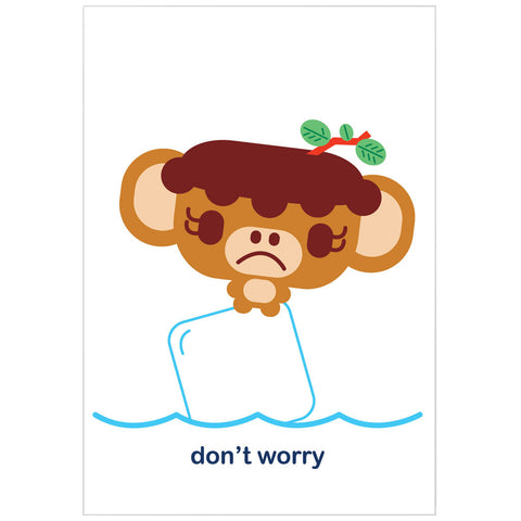 """don't worry"" card"