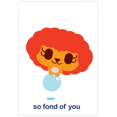"""fond of you"" card"