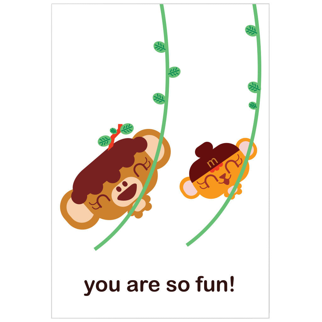 """you are so fun"" card"