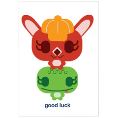"""good luck"" card"