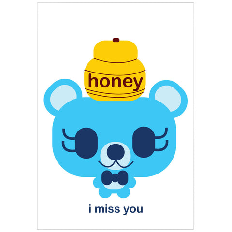 """i miss you"" card"