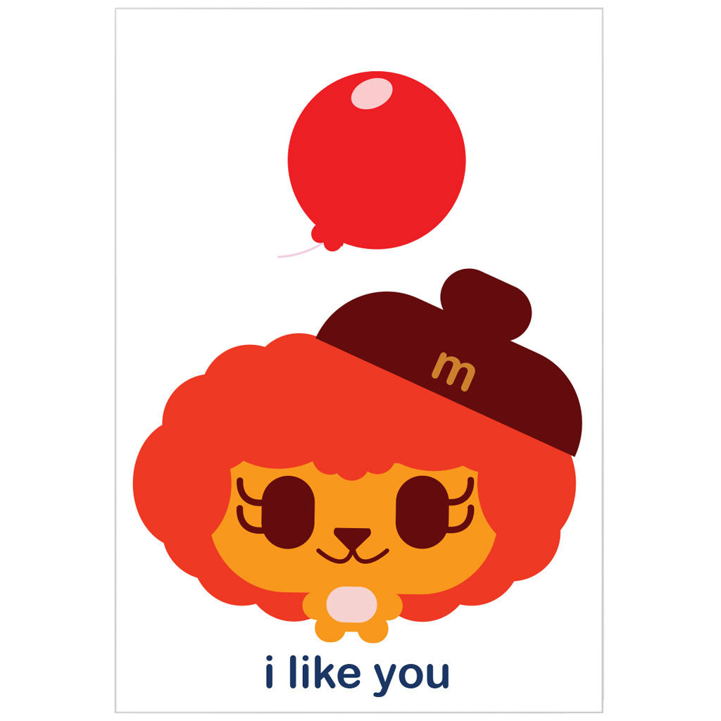 """i like you"" card"