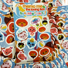 Memo Me BeachBall Party Sticker Sheet