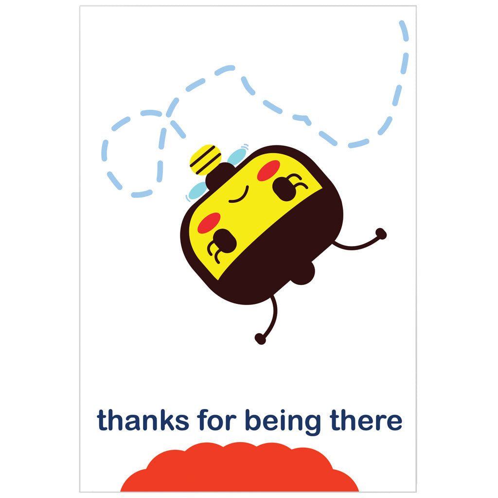 """thanks for being there"" card"