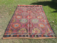 Colorful kilim rug selendi