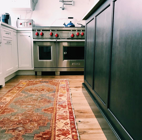 accent rug in kitchen