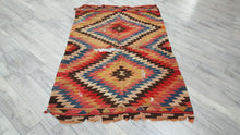 Antique Turkish Manastir Balkan Kilim Rug 4,2x5,9 ft.