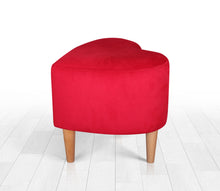 "Heart Shaped Pouf 16,5"" x 15,7"" x 15,7"" inches"
