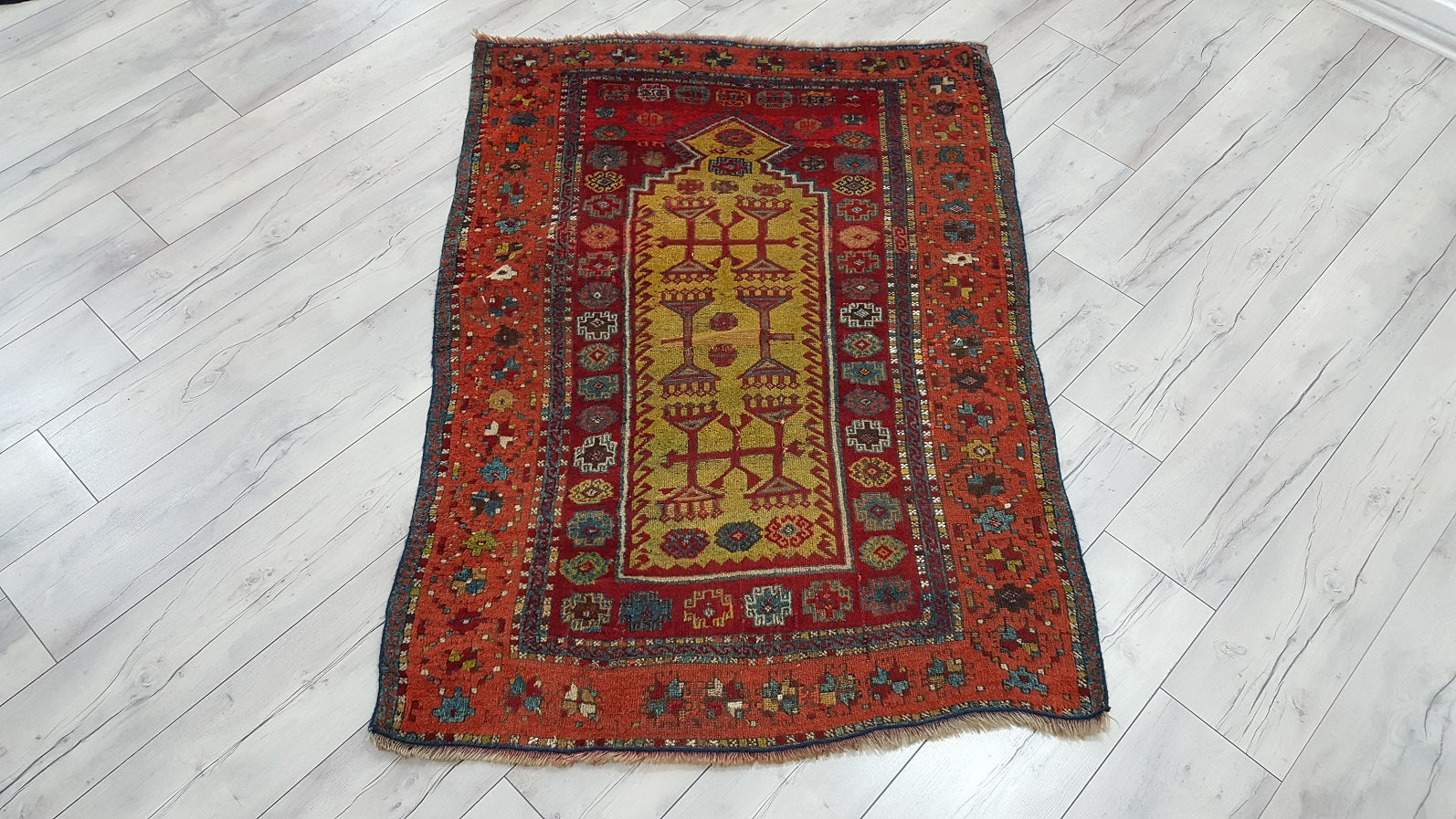 Antique Turkish Konya Rug Iconium