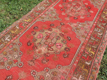 Circa 1950's Red Turkish Runner Rug