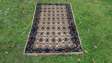Black and Greyish Turkish Wool Carpet