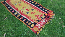 Vintage Turkish Kilim Black Borders for $99