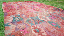 Faded Turkish Kilim Rug Great Bohemian Look