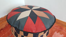 Bohemian Decor Leather Pouf