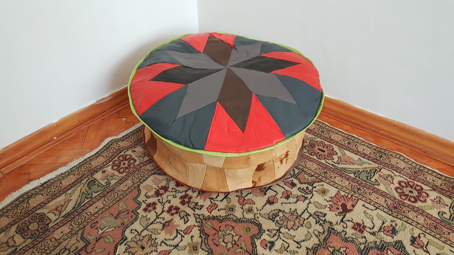 Home Decor Leather Pouf