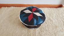 "17"" Inches Leather Pouf"