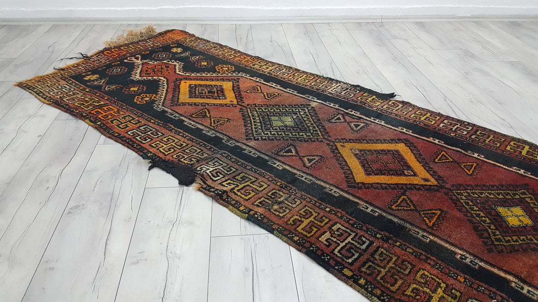 Antique Turkish Prayer Rug with Rare Swastika Pattern