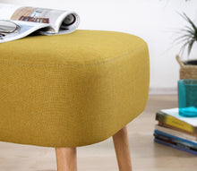 "Ottoman Pouf Parrot Yellow 16,9"" x 19,7"" x 16,5"" inches"