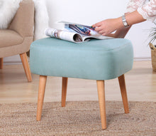 "Ottoman Pouf Parrot Sea Foam Green 16,9"" x 19,7"" x 16,5"" inches"