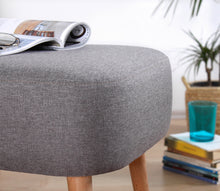 "Ottoman Pouf Parrot Light Gray 16,9"" x 19,7"" x 16,5"" inches"