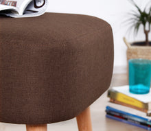 "Ottoman Pouf Parrot Coffee 16,9"" x 19,7"" x 16,5"" inches"