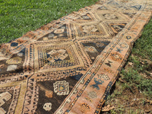 Authentic Kurdish Runner Rug with Earthy Colors