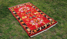 3x5 Red and Black Turkish Rug