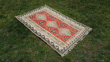 3,7x5,7 feet Turkish Kilim Rug Nursery