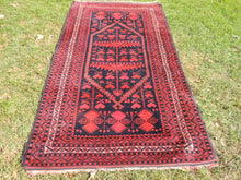 3x6 Navy and Red Color Yagcibedir Area Rug