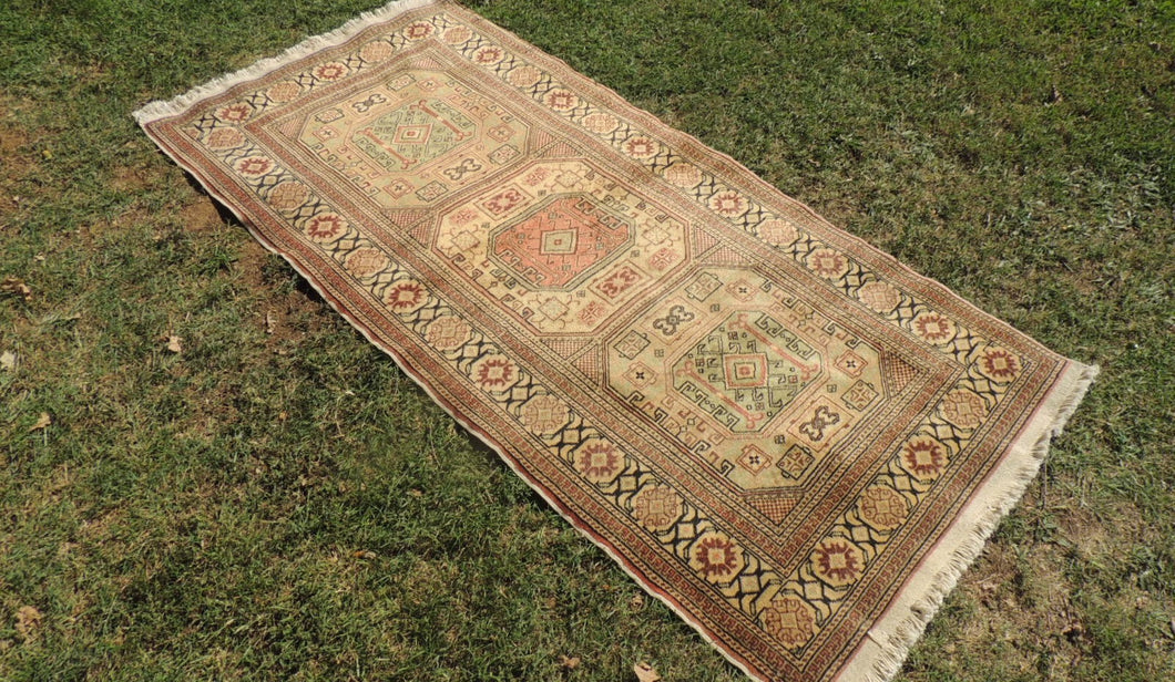 Turkish Runner Rug Earthy Coloured 3x7 ft.