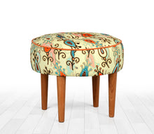 "Round Ottoman Pouf Dot Flower 16,5"" x 19,7"" inches"